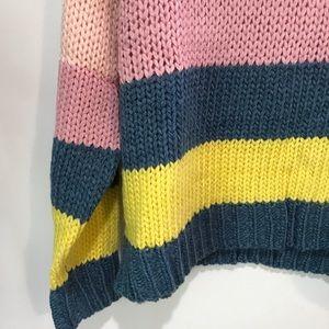 Peach Love California Sweaters - Peach Love Boutique Striped Chunky Sweater